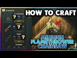 chainsaw minigun. how to craft minigun, flamethrower and chainsaw! in last day on earth: survival chainsaw minigun r