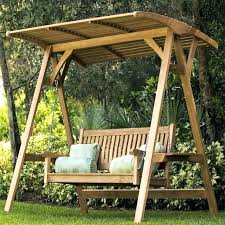 wooden yard swing marvelous garden bench 1 swings with canopy sets patio plans porch frame