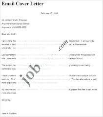Cover Letter Email Format Resume For Job Application Cover Letter Email Sample Samples