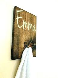 initial towel hooks monogram personalized name hook for baskets backpack wooden rustic bathroom customized kids initial monogram towel hooks reaction