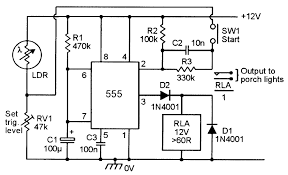 monostable circuits nuts volts magazine for the figure 13 automatic porch light turns on for a pre set period only when triggered at night