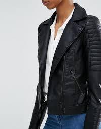 noisy may tall leather look biker jacket black women jackets noisy may parka whole
