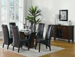 full size of giovani black white high gloss glass dining table set and 6 chairs oslo