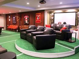 Nfl Bedroom Furniture Top Six Basement Spaces Hgtv