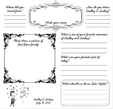wedding guest book template pages page design from prediction guestbook or memories free printable and wedding guest book template pages