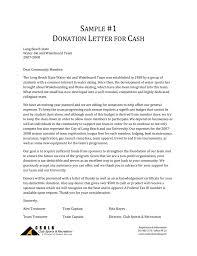 Sample Donation Letters Sample Donation Letters California State University Long