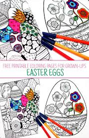 I hope you enjoy these egg coloring pages! Easter Coloring Pages For Grown Ups Red Ted Art Make Crafting With Kids Easy Fun