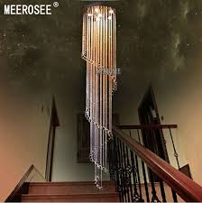 meerosee spiral crystal light fixture long crystal chandelier
