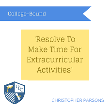 resolve to make time for extracurricular activities college extracurricular activities