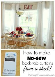 how to make no sew back tab curtain from a sheet