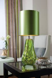 lighting lime green table lamp shade bedside ceramic glass