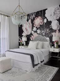 bedroom wallpaper design ideas. Beautiful Guest Bedroom With Floral Wallpaper Design Ideas N
