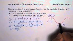 best way to model and write sine and cosine function for given situation