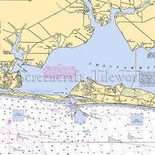 Florida Destin To Valparaiso Nautical Chart Decor