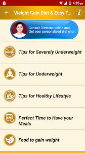 A Healthy Diet Chart For Weight Gain Weight Gain Diet Plan Foods 3 5 Apk Download Android