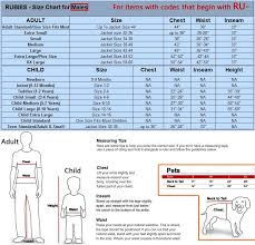 Rubies Size Chart Rubies Sizing Chart Anything Costumes