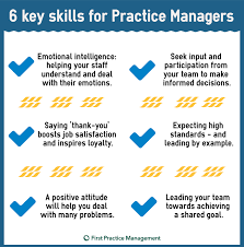 What Are Some Job Skills 6 Important Skills Every Gp Practice Manager Should Have