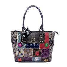 Discount Coach Holiday Fashion Medium Black Satchels DMG Clearance