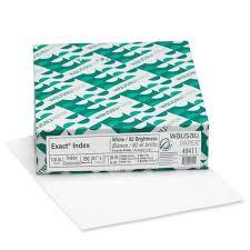 exact index cardstock 8 5 x 11 110 lb 199 gsm 94 brightness white 250 sheets walmart