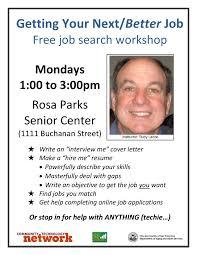job search skills rosa parks senior center