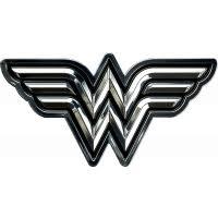 Wonder Woman - Wonder Woman Chrome Logo Lensed Fan Emblem by Fan Emblems