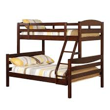 Compelling Walker Edison Twin Solid Wood Bunk Bed in Double Bunk Beds