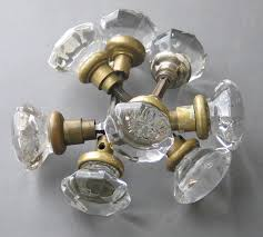 vintage glass door knobs small