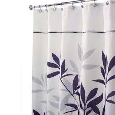 leaves long shower curtain in