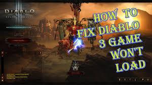 Diablo 3 Game Won't Load Quick Fix ...