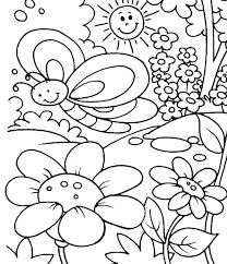 Elegant Preschool Spring Coloring Pages And Spring Coloring Pages