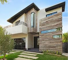 Reclaimed Wood And White Stucco Exterior Design House
