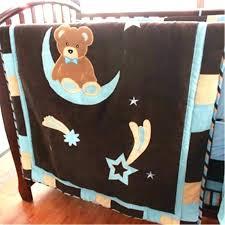 bear crib bedding teddy sets blue moon baby set love character carters