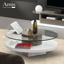rotating coffee table creative modern minimalist circular rotating coffee table glass coffee table paint small apartment rotating coffee table