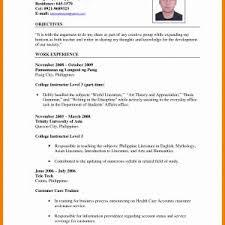 Resume Sample For Undergraduate Students Philippines Fresh Resume ...
