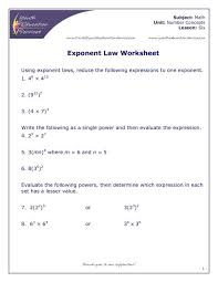 Laws-of-exponents-worksheet- & ... Math Worksheets Powersoften ...