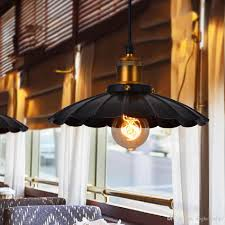 Großhandel Pendelleuchten Beleuchtung Lampen Kronleuchter Vintage American Industrial E27 Lampe Schwarz Weiß Schlafzimmer Lampen Mit Verschiedenen