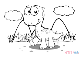 Dinosaurs Printable Coloring Pages Lef Clancom