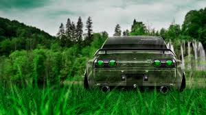 nissan skyline gtr r32 jdm crystal nature car