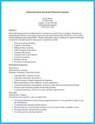 Entry Level Admin Resume In Writing Entry Level Administrative Assistant Resume You Need To 10