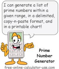 Number Chart Generator Prime Number List Generator First X Primes Or Between X And Y