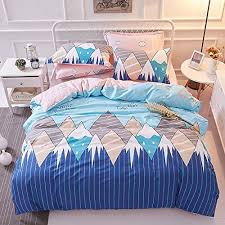 young adult bedding. Fine Bedding TheFit Paisley Textile Bedding For Young Adult W545 Blue Smile Mountain  Duvet Cover Set 100 Cotton Queen Set 4 Pieces Inside D