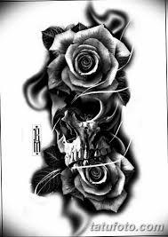 черно белый эскиз тату на предплечье 09032019 001 Tattoo Sketch
