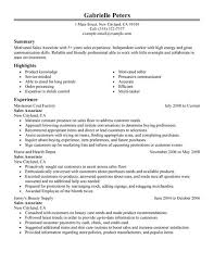 How To Write A Resume For A Sales Associate Position Resume Sales