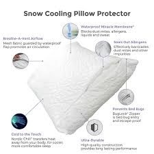 Dust Mite Pillow Covers Unique ProtectABed Cooling Pillow Cover ThermASleep Snow ProtectABed