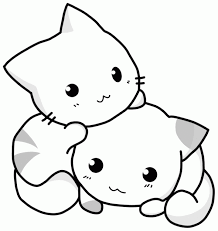 Small Picture Elegant Cute Cat Coloring Pages 85 For Picture Coloring Page with