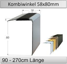 Der rutschschutz für treppen aus stein, granit, holz und anderen materialien. 58x80mm Treppenkantenprofil Mit Antirutsch Einlage Top Preise