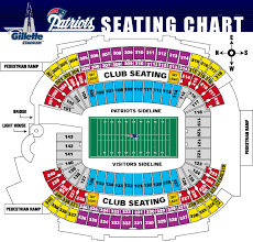 Gillette Seating Chart With Rows Gillette Stadium Seating Google Search New England