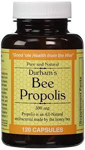 Amazon.com: Durham's Bee Propolis 500mg 120 Capsules: Health ...