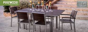 polywood euro collection exemplifies modern outdoor furniture with its sleek smooth lines this performance driven combination of aluminum frame and