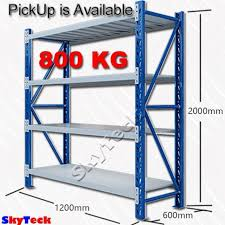 metal storage shelves. 1.2m*2m garage storage warehouse shelves shelving racking metal steel b12-1220bg